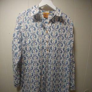 Tory Burch Seahorse Cotton Tunic